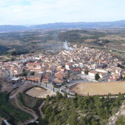 Vistas desde la ferrata del pueblo de Tivissa